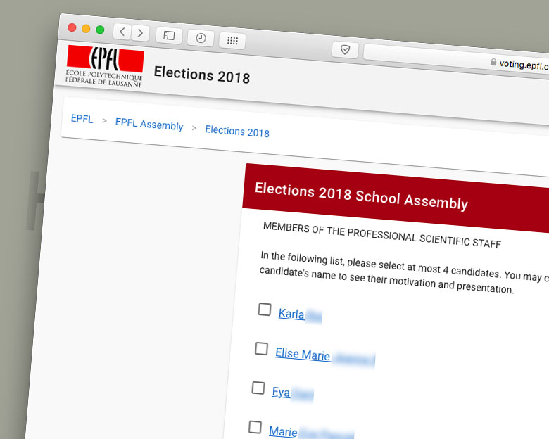 EPFL School Assembly Election Secured by DTOP Blockchain