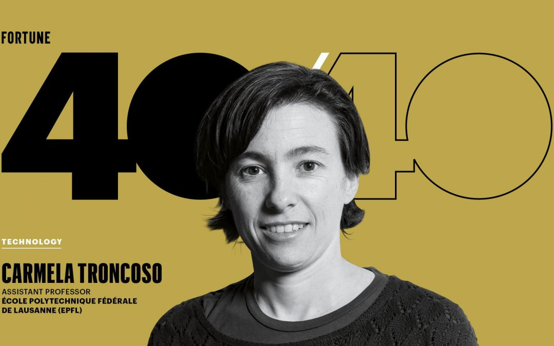 Carmela Troncoso: named one of 2020s global top young tech leaders